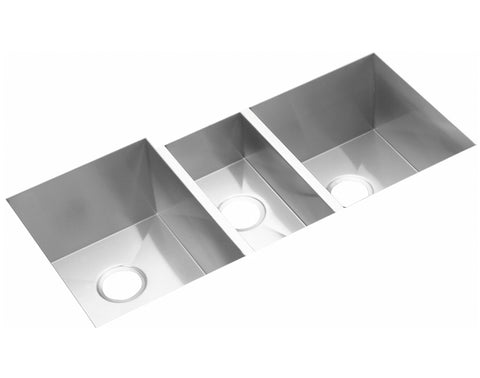 "Elkay Crosstown 16 Gauge Stainless Steel 40"" x 20-1/2"" x 10"", Triple Bowl Undermount Kitchen Sink, EFU402010"