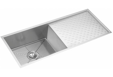 "Elkay Crosstown 16 Gauge Stainless Steel 43-1/2"", Single Bowl Undermount Kitchen Sink Kit, EFU411510DBDBG"