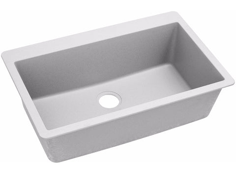 "Elkay Quartz Classic 33"" x 20-7/8"", Single Bowl Top Mount Kitchen Sink, ELGR13322"
