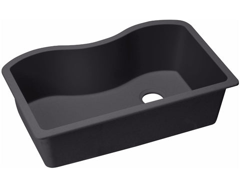 "Elkay Quartz Classic 33"", Single Bowl Undermount Kitchen Sink, ELGUS3322R"