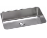 "Elkay Lustertone Stainless Steel 26-1/2"", Single Bowl Undermount Kitchen Sink with Perfect Drain, ELUH2416PD"