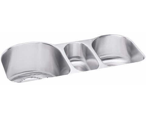 "Elkay Lustertone Stainless Steel 39-1/2"" x 20"" x 10"", Triple Bowl Undermount Sink Kit, ELUH3920DBG"