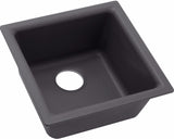 "Elkay Quartz Luxe 15-3/4"", Single Bowl Dual Mount Bar Sink, ELX1616"