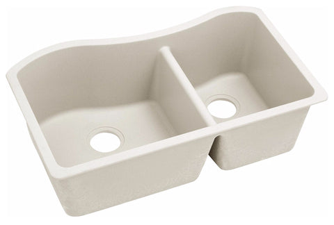 "Elkay Quartz Luxe 32-1/2"" x 20"" x 10"", 60/40 Double Bowl Undermount Sink, ELXHU3220R"