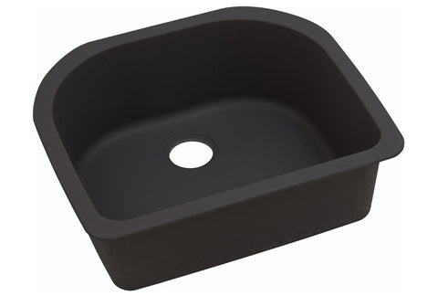 "Elkay Quartz Luxe 25"" x 22"" x 8-1/2"", Single Bowl Undermount Kitchen Sink, ELXSU2522CA0"
