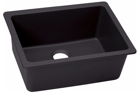 "Elkay Quartz Luxe 25"" x 18-1/2"" x 9-1/2"", Single Bowl Undermount Kitchen Sink, ELXU2522"