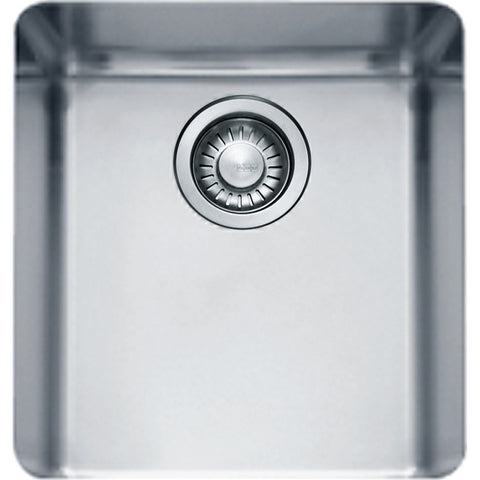 "Kubus KBX110-13 Stainless Steel Kitchen Sink, 14 9/16"", Undermount, Single Bowl"