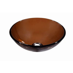 Dawn Tempered Glass Vessel Bowl, GVB84010RD