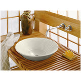 "Kohler Turnings 16"" Round Vessel Bathroom Sink - White K-2191-3"