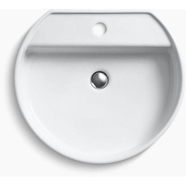 "Kohler Chord Wading Pool 19"" Bathroom Sink with Single Faucet Hole - White K-2331-1-0"