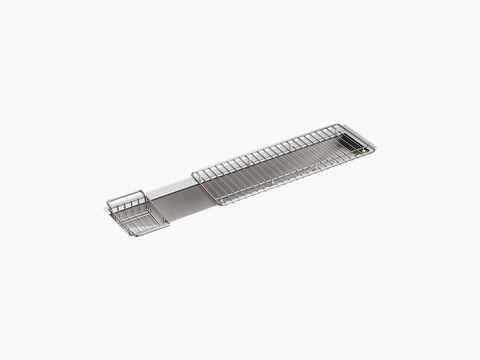 "Kohler Undertone K-3156-NA, 43"" Undermount Single Bowl Trough Stainless Steel Kitchen Sink with Wire Basket and Wire Rack"