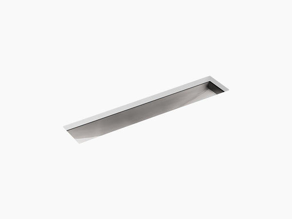"Kohler Undertone K-3188-NA, 43"" Undermount Single Bowl Trough Stainless Steel Kitchen Sink"
