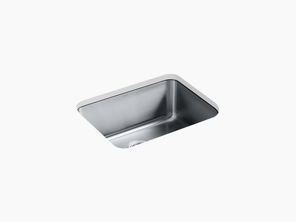 "Kohler Undertone K-3325-HCF-NA, 23"" Medium Single Bowl, Undermount Stainless Steel Kitchen Sink with bottom sink rack"