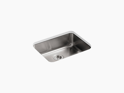 "Kohler Undertone K-3332-NA, 23"" Extra large Squared Undermount Single Bowl Stainless Steel Kitchen Sink"