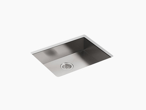 "Kohler Vault K-3894-4-NA 25"" Single Bowl, Dual Mount Kitchen Sink with 4 Faucet holes"