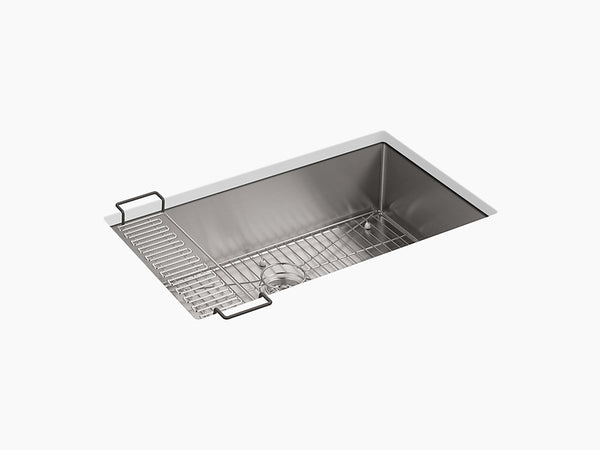 "Kohler Strive K-5285-NA, 32"" Undermount Single Bowl Kitchen Sink with Accessories"