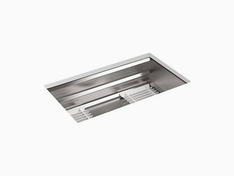 "Kohler Prolific K-5540-NA, 33"" Undermount, Single Bowl Stainless Steel Kitchen Sink with Accessories"