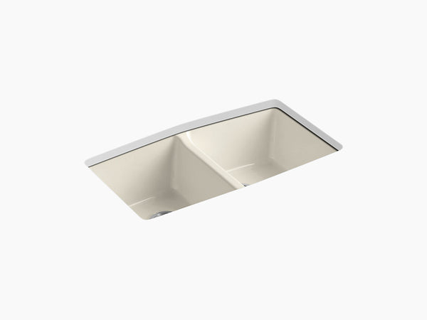 "Kohler K-5846-5U Brookfield, 33"" Cast Iron Kitchen Sink ..."
