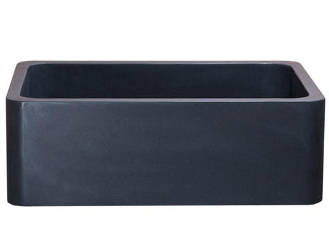 "Stone Farmhouse Sink, 30"", Black Lava, Reversible, Single Bowl, Allstone Group, KF302010SB-NLP-BL"