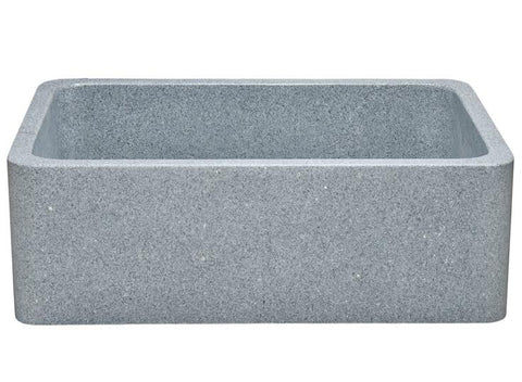 "Stone Farmhouse Sink, 30"", Mercury Granite, Reversible, Single Bowl, Allstone Group, KF302010SB-NLP-M"