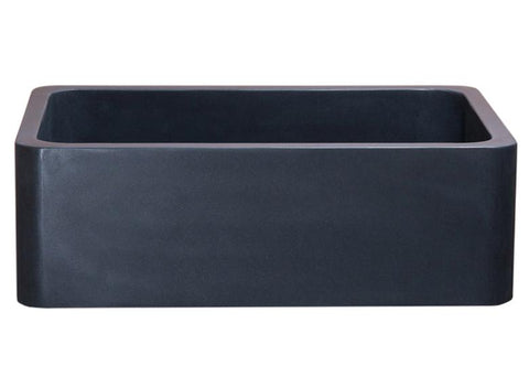 "Stone Farmhouse Sink, 33"", Black Lava, Reversible, Single Bowl, Allstone Group, KF332010SB-NLP-BL"