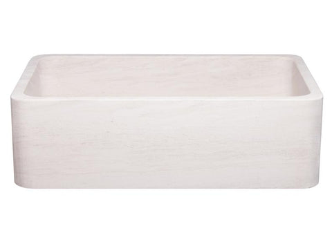"Stone Farmhouse Sink, 33"" Crema Lyon-Limestone, Single Bowl, Reversible, Allstone Group, KF332010SB-NLP-CL"