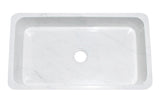 "Stone Farmhouse Sink, 36"", Carrara White Marble, Reversible, Single Bowl, Allstone Group, KF362010SB-NLP-CW"