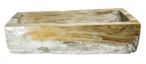 "Petrified Wood Farmhouse Sink, 36"", Allstone Group, KF362010SB-PEWD-2"