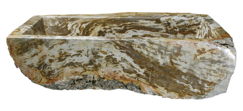 "Petrified Wood Farmhouse Sink, 36"", Allstone Group, KF362210SB-PEWD-1"
