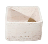 "Stone Farmhouse Sink, 17"", Perlina Limestone, Curved Front, Single Bowl, Allstone Group, KFCF171810-PL"