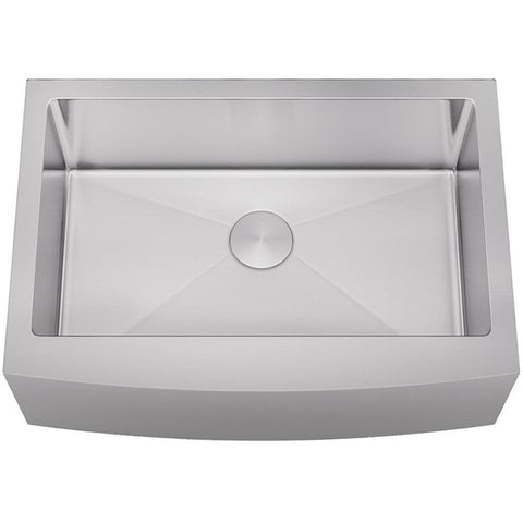 "Allora 30"" Farmhouse Stainless Steel Single Bowl Kitchen Sink KH-3021F-R15"