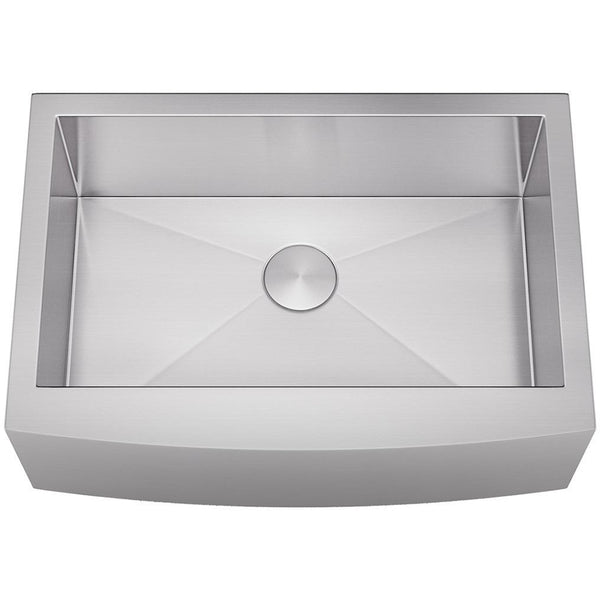"Allora 30"" Farmhouse Stainless Steel Single Bowl Kitchen Sink KH-3021F"