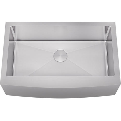 "Allora 33"" Farmhouse Single Bowl Stainless Steel Kitchen Sink KH-3321F-R15"