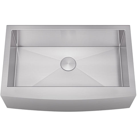 "Allora 33"" Farmhouse Single Bowl Stainless Steel Kitchen Sink KH-3321F"