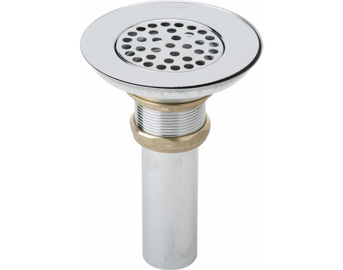 Elkay 3-1/2 Drain Type 304 Stainless Steel Body, Strainer and Tailpiece, LK18B