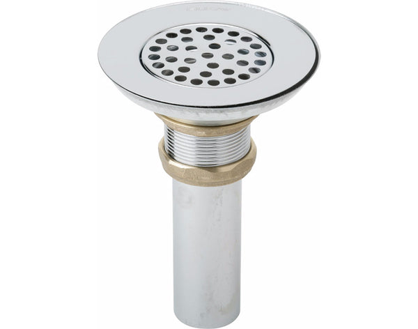Elkay 3-1/2 Drain Nickel Plated Brass Body, Strainer and Tailpiece, LK18