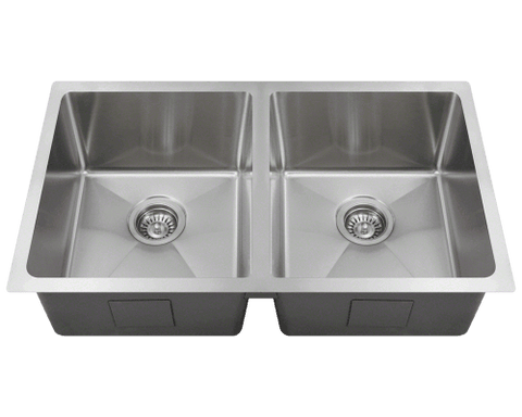 "Stainless Steel Sink, 31"" Single Bowl 3/4"" Radius Sink, Undermount Kitchen Sink, Polaris, PD0213"