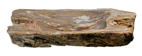 "Bathroom Vessel Sink, 33"" Petrified Wood, Allstone Group, PEWD-#017 - Showroom Sinks"
