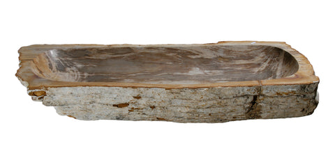 "Bathroom Vessel Sink, 32"" Petrified Wood, Allstone Group, PEWD-#018 - Showroom Sinks"