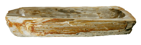 "Bathroom Vessel Sink, 33"" Petrified Wood, Allstone Group, PEWD-#025 - Showroom Sinks"