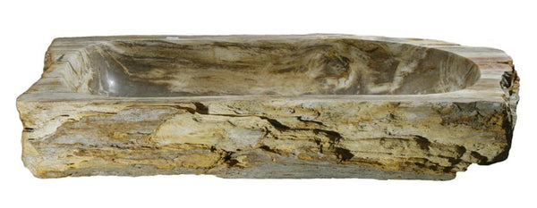 "Bathroom Vessel Sink, 30"" Petrified Wood, Allstone Group, PEWD-#026 - Showroom Sinks"