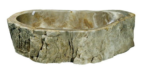 "Bathroom Vessel Sink, 21"" Petrified Wood, Allstone Group, PEWD-#032-A - Showroom Sinks"