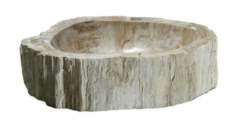 "Bathroom Vessel Sink, 18.5"" Petrified Wood, Allstone Group, PEWD-#035 - Showroom Sinks"