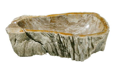 "Bathroom Vessel Sink, 22"" Petrified Wood, Allstone Group, PEWD-#037 - Showroom Sinks"