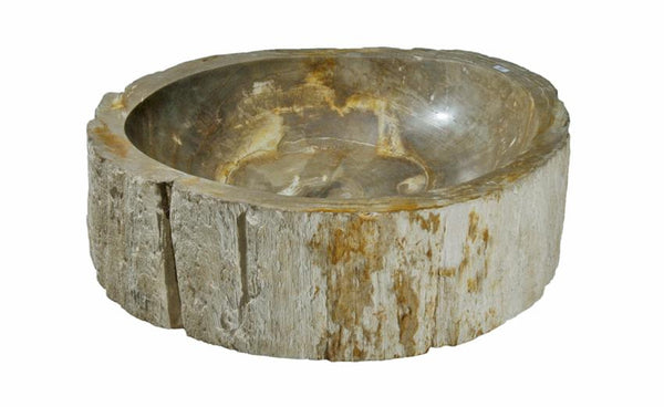"Bathroom Vessel Sink, 20"" Petrified Wood, Allstone Group, PEWD-#039 - Showroom Sinks"