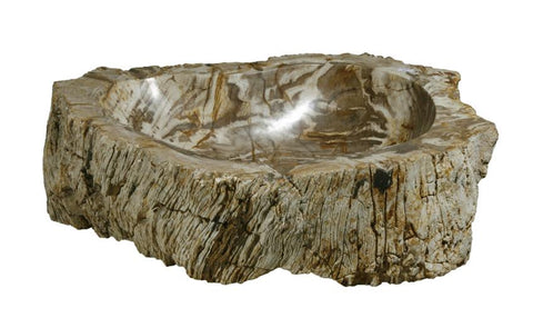 "Bathroom Vessel Sink, 20"" Petrified Wood, Allstone Group, PEWD-#041 - Showroom Sinks"
