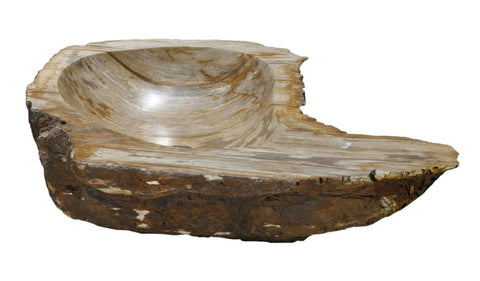 "Bathroom Vessel Sink, 28"" Petrified Wood, Allstone Group, PEWD-#044 - Showroom Sinks"