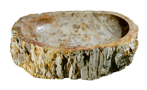 "Bathroom Vessel Sink, 24"" Petrified Wood, Allstone Group, PEWD-#046 - Showroom Sinks"