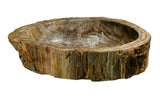 "Bathroom Vessel Sink, 24.5"" Petrified Wood, Allstone Group, PEWD-#056-D - Showroom Sinks"