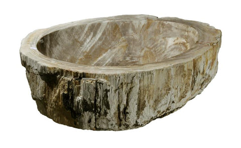 "Bathroom Vessel Sink, 21"" Petrified Wood, Allstone Group, PEWD-#052 - Showroom Sinks"
